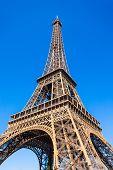 Eiffel Tower Or Tour Eiffel Is A Wrought Iron Lattice Tower On The Champ De Mars In Paris, France poster