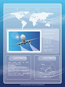 picture of passport template  - Travel site template - JPG
