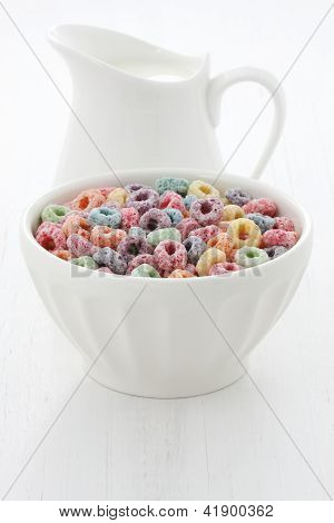 Delicious Kids Cereal Loops With A Fruit Flavor