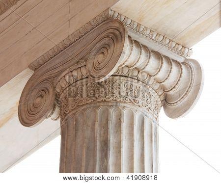 Capital Of Greek Neoclassical Ionic Column