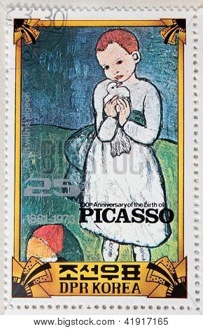 Picasso Stamp From Korea