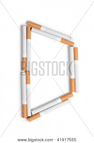 Color photo of the letters of the alphabet from cigarettes