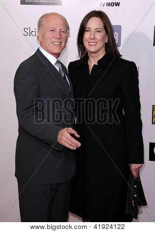 LOS ANGELES - JAN 10:  Frank Marshall & Kathleen Kennedy arrives to the