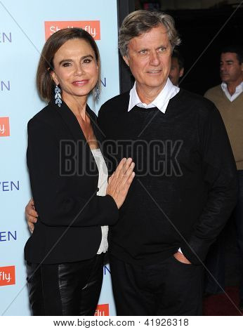 LOS ANGELES - FEB 05:  Lena Olin & Lasse Hallstrom arrives to the 'Safe Haven' Hollywood Premiere  on February 05, 2013 in Hollywood, CA