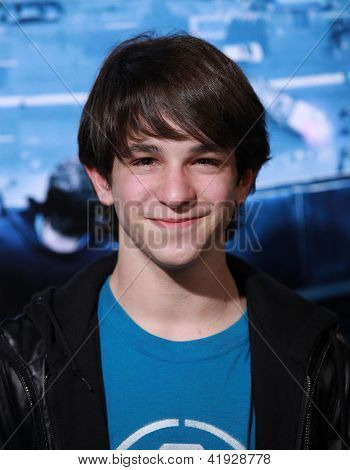 LOS ANGELES - JAN 23:  ZACHARY GORDON arriving to