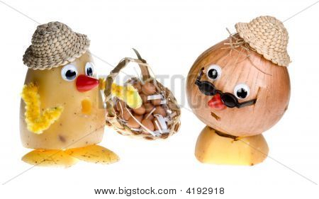Onion Face And Potato Head