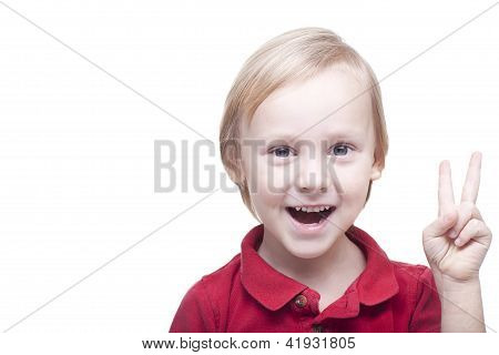 Positive Smiling Small Boy