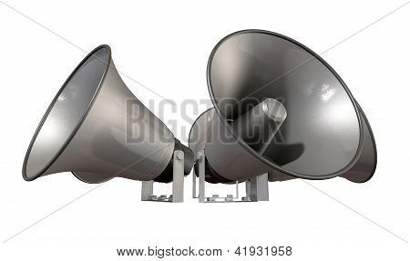 Horn Loudspeakers Facing Out