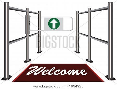 Turnstile With An Invitation