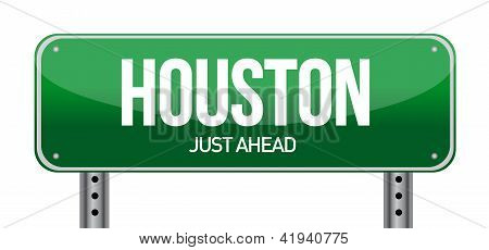 Road Sign Houston