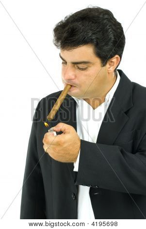 Man And Cigar