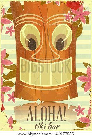 Vintage Hawaiian Tiki Postcard