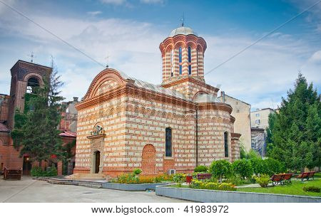 The 'Sfantul Anton Buna Vestire' (Old court church) in the Old Town area in Bucuresti, Romania.