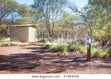 An image of an australian bush loo