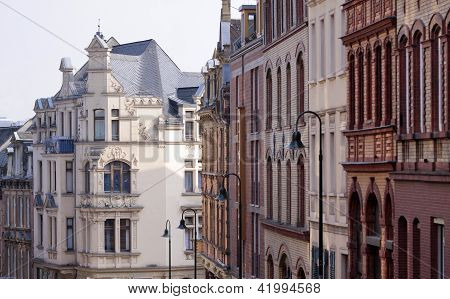 Houses In The Old Town Of Wiesbaden
