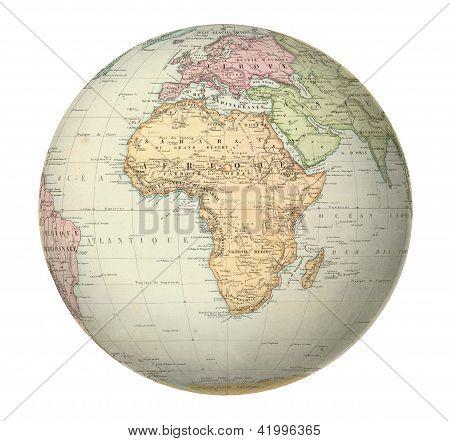 Antique Map Of Africa.