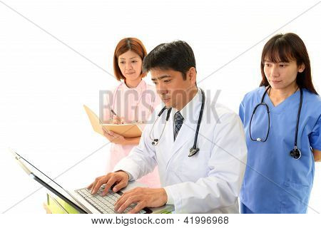 Medical staff working