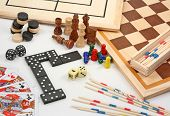 foto of draught-board  - Board games isolated on a white background - JPG
