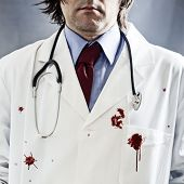 foto of morbid  - Killer doctor concept - JPG