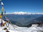 Prayer Flags And High Mountains, Himalayas