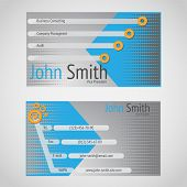 Stylish Modern Vector Business Card With Standart 90 X 50 Mm