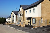 picture of social housing  - Houses on a Typical English Residential Estate - JPG
