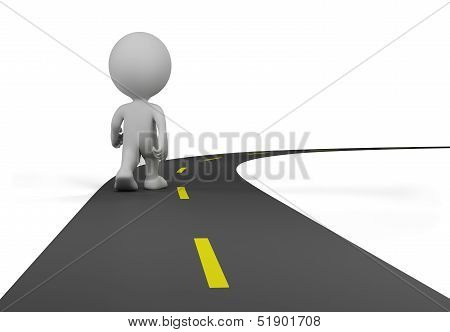 3D Person On The Road