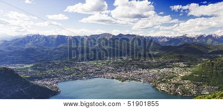 The lake of Lugano, view from Italy