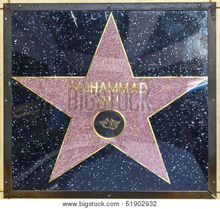 Muhammad Ali's Star On Hollywood Walk Of Fame