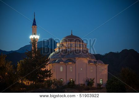 Turkish Mosque At Night