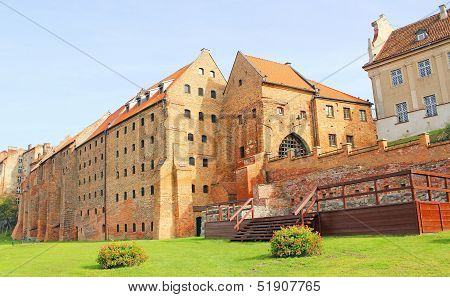 Granaries in Grudziadz, Poland