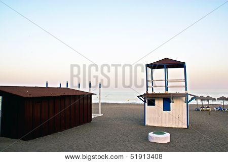 Lifeguard Cabin In Spanish Coast