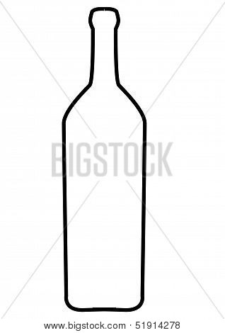 Thick line bottle of wine