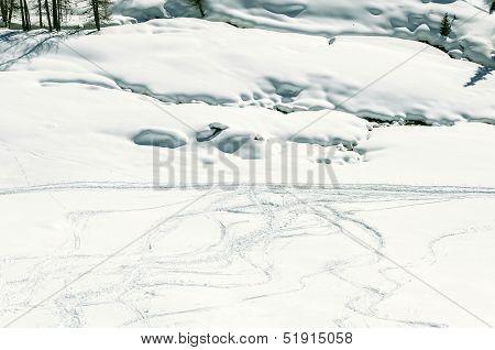 Cuneaz (aosta Valley) Ski Tracks