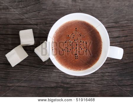 Mug Of Hot Chocolate Or Cocoa With Marshmallows