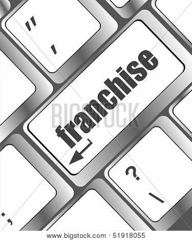A Keyboard With A Key Reading Franchise - Business Concept