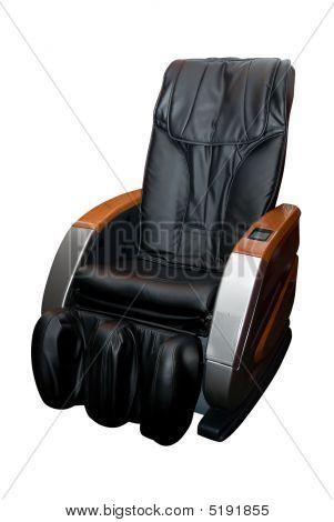 Massage Armchair On White