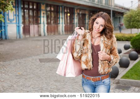 Fashionable Cool Young Shopper.