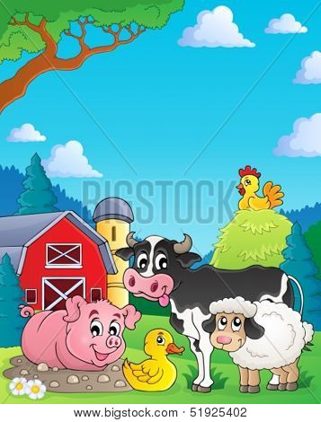 Farm animals theme image 4 - eps10 vector illustration.