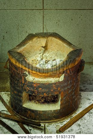 Charcoal  Brazier Of Thai Style.