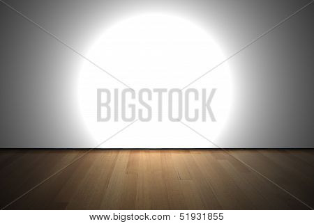 Empty Room With Spot Light