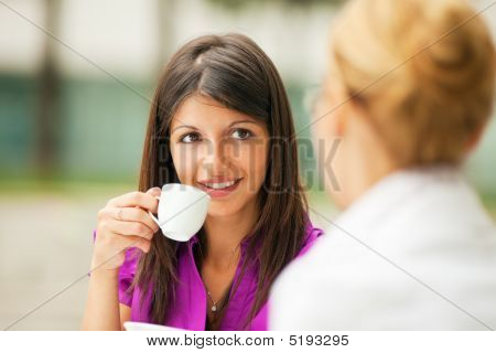 Businesswomen Drinking Coffee