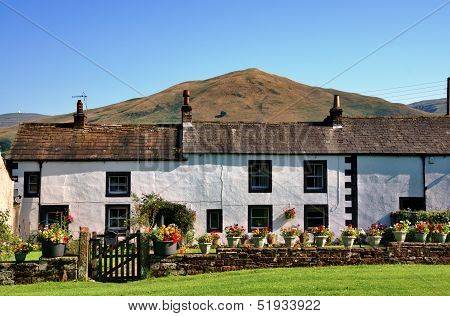 White cottages in Dufton, Cumbria