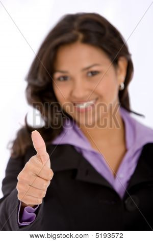 Business Woman - Thumbs Up
