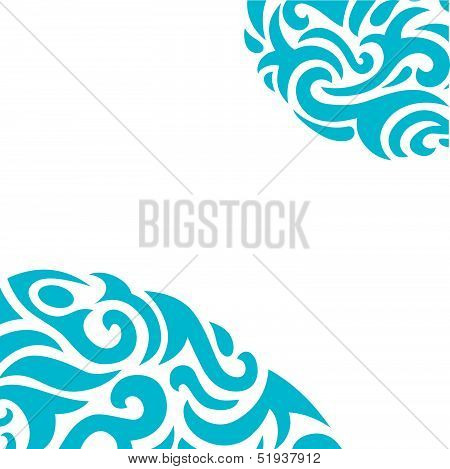 Abstract Background in Tribal Style