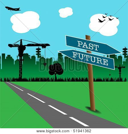 Past and future signpost