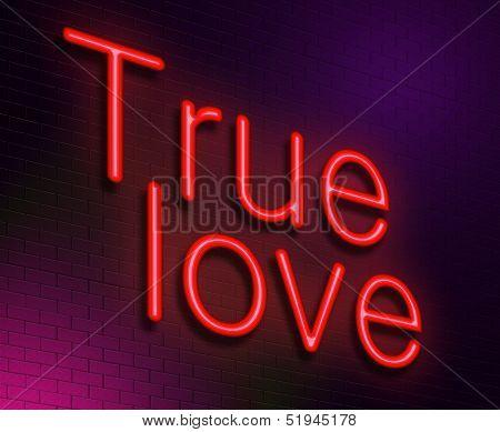True Love Concept.