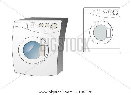 Vector Image Of Washing Machine