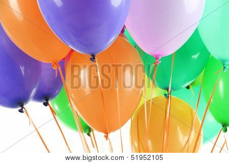 Colorful balloons close up