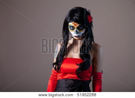 Sugar skull girl, Day of the Dead, Halloween